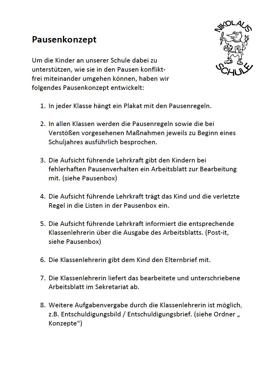 Nikolausschule - Aufbau einer gesunden Streitkultur